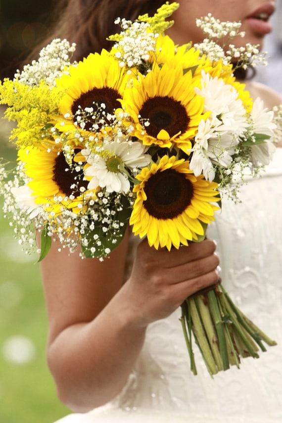 Sunflower Bridal Bouquet/Sunflower and Gerbera Daisy Bridal