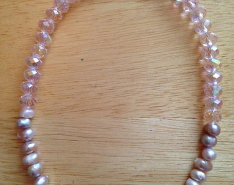 Pretty in Pink- Freshwater Pearl Necklace
