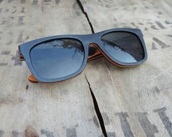 Wooden Skateboard Wood Sunglasses by RUNESILK