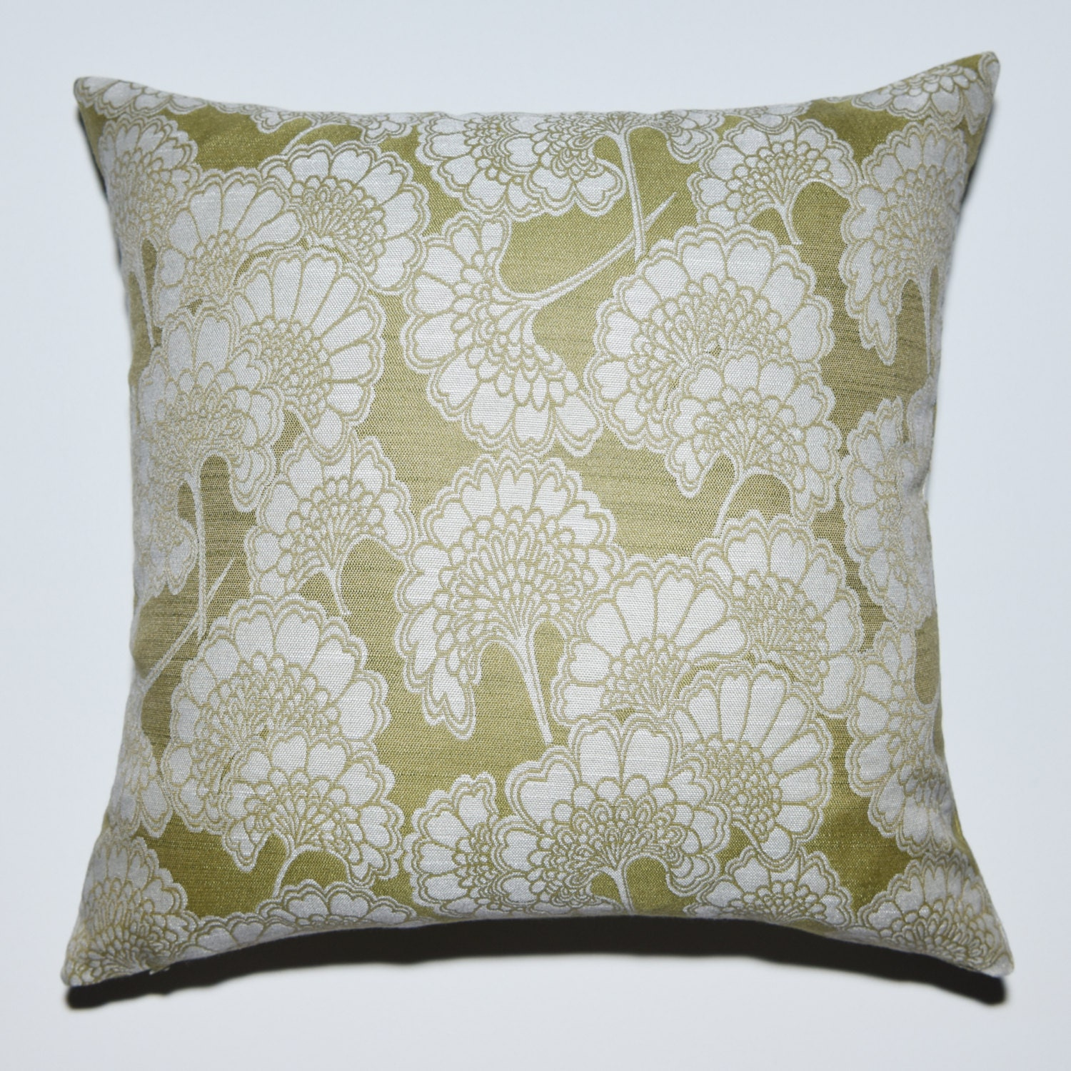Sage Green Throw Pillow Covers : Decorative Pillow Cover Sage Green Off White Woven