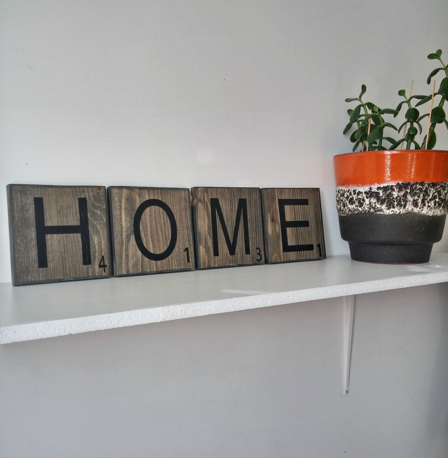 Large Rustic Scrabble Tiles For The Wall Wood Signs Rustic