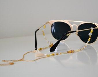 GOLDEN AUTUMN shadeloops // eyeglass chain, eyeglass holder, eyeglass leash, eyeglass holder, glasses chain, brillenkette, shadeloops