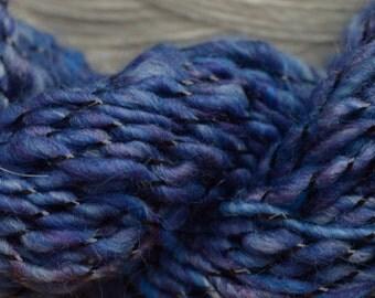 Carpe Noctum Corespun Handspun Art Yarn Lurex Sequin Sparkle Knitting Crochet Weaving
