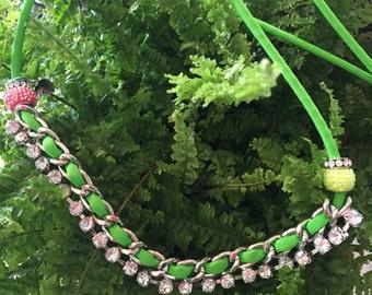 Rhinestone Bracellet ,Belt ,Necklace