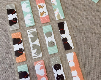 50% OFF CLEARANCE SALE - 96pcs Cat Index Stickers - Cute Cat Index Stickers - 12 pcs x 8 Sheets (was 4.80)