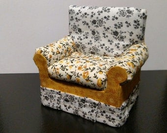 1:12 multi-pattern miniature easy chair