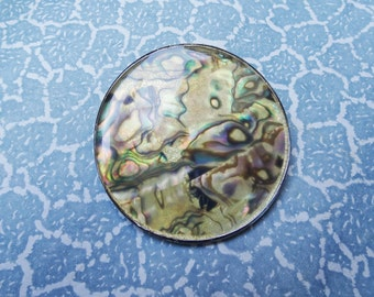 large Mother of Pearl shell brooch clip