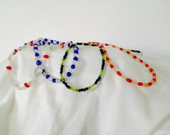 Vintage Glass Mardi Gras Beads