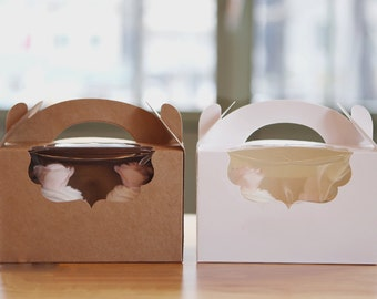 5 cupcake boxes for hold 2, cupcake boxes, muffin box, muffin box for 2, cute cupcake box, cupcake packaging, muffin packaging, cupcake gift