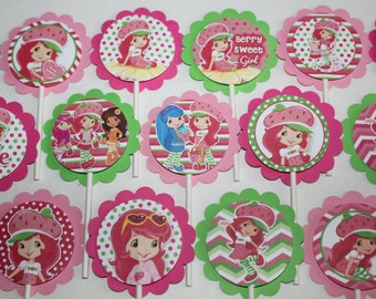 Strawberry Shortcake Inspired Cupcake Toppers