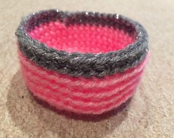 Small crochet basket