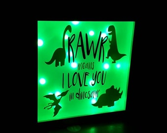 Light box frame Dinosaur
