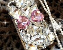 luxury Bling Diamond Gem Flower Crystal Hard Case Cover for Various Phones