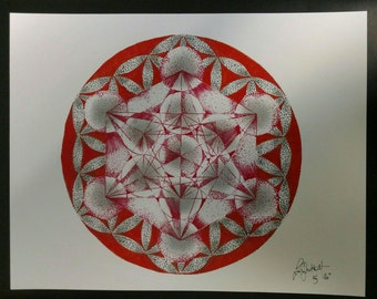 Print of Metatrons Cube limited 1-100 per size available