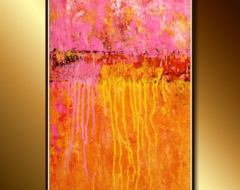 Modern Art (Urban Modern Painting) Abstract Canvas Art Ready to hang: Oil and Acrylic Abstract Painting, Original Canvas Art, Painting Art