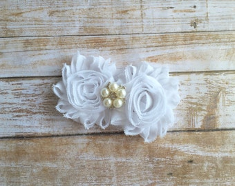 Wedding Hair Clip/White Hair Clip/Bridal Hair Clip/Flower Hair Clip/Bridal Hair Piece/Flower Girl Clip/Hair ClipFlower/Bridal Headpiece