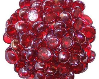 500 Grams High Quality Red Glass Pebbles