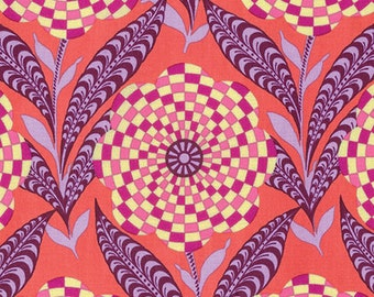 Zebra Bloom in Persimmon from the Eternal Sunshine Collection by Amy Butler - Cotton Quilting Fabric