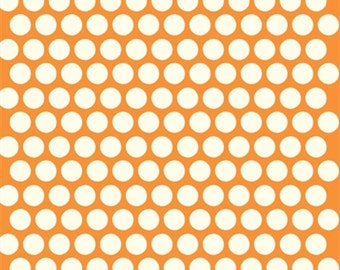 Birch Organic Cotton Fabric - Dottie Cream Orange
