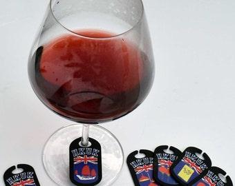 HKUK set of 6 20th Anniversary Wine Tags