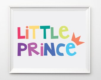 Little Prince - boys Nursery art - Printable wall art - kids decor - boys playroom sign - baby boy gift - Instant Download