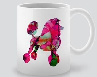 Poodle Mug  - Dog Cup  - Tea Mug - Coffee Cup - Ceramic Mug - Colorful Printed - Watercolor Illustration