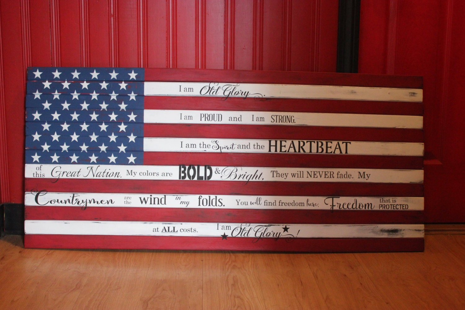 American flag pallet art sign wall decor old glory patriotic - American flag pallet art ...