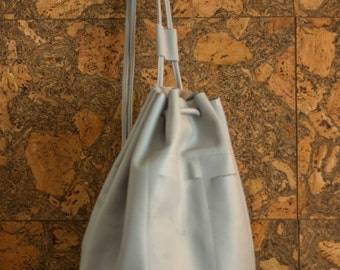 Real leather duffel bag