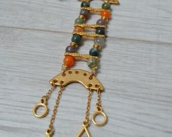Gold necklace, geometric jewelry, ladder necklace, minimal necklace, boho jewelry, hippy jewelry, bohemian necklace, minimalistic jewelry