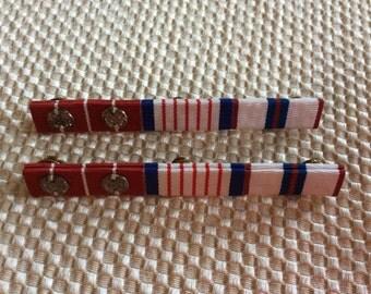 Canadian Military long service soldier award Calgary Highlanders clasp ribbon decoration