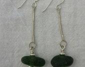 Sea Sway Beach Found Green Sea Glass Earrings