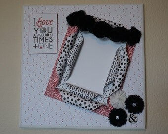 Black and White/Love  Altered Canvas Picture Frame
