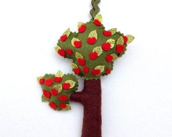 Ornament, Tree Ornament, Tree of life, Tree, Made of Felt, Handmade, Hand Embroidery, Felt Ornament,Tree Decoration, Gift Ornament,Felt Tree