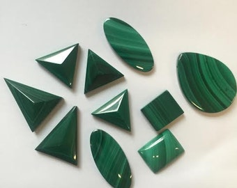 various shaped lot of MALICHITE shapes