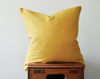 Mustard Linen Pillow Cover