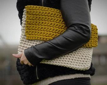 Handmade crochet clutch bag/ evening bag