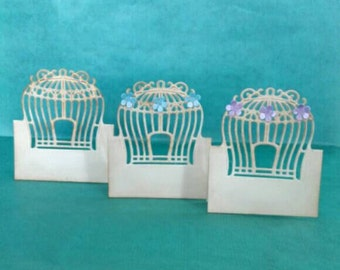 10 Birdcage name place cards