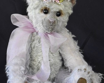 "Lavender Beary, 15"" (38 cm) One of a kind Artist Bear"