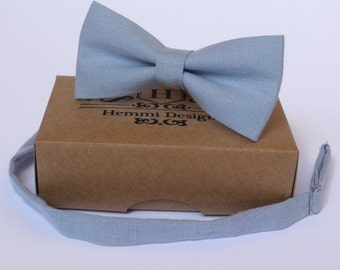 Blue Bow Tie for wedding / linen bow tie for men / bow tie Blue / bow tie for baby / Blue boy's bow tie, Blue necktie, men's bow tie
