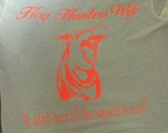 Hog hunters wife tee, womens tops and tees, proud wife