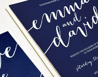 Signed With Love / Classic Calligraphic Wedding Invitation