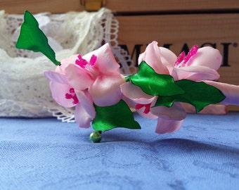 Headband hairband kanzashi, hand made, hand made, gift idea
