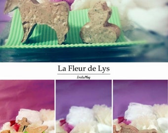 Handmade soaps of milk for luck