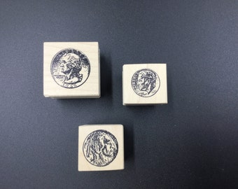 Set of 3 rubber stamps by 100 Proof Press