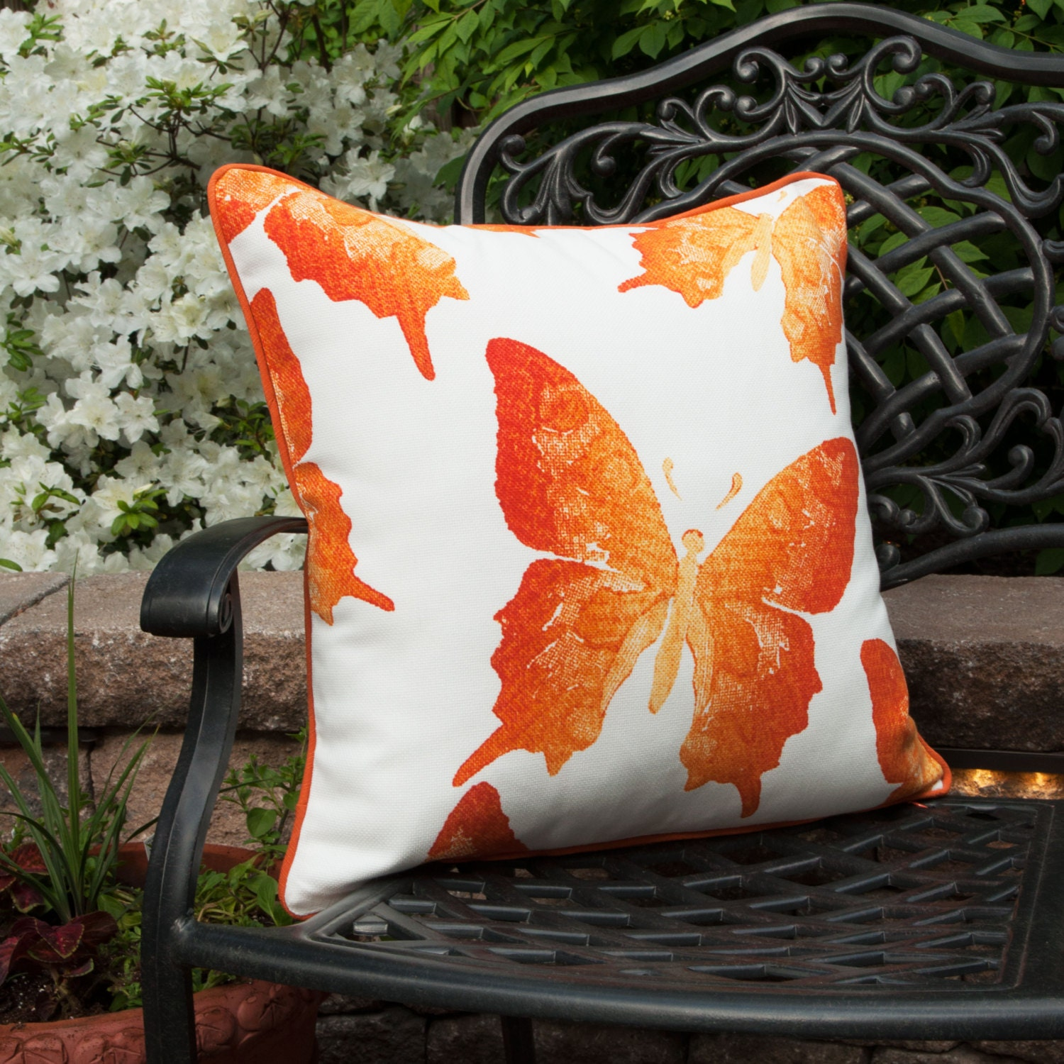 outdoor pillow covers outdoor pillow covers orange pillow cover butterfly 29078