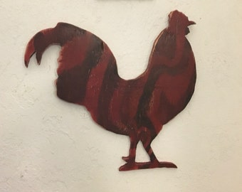 Wooden Rooster Chicken Decoration Wall/Hanging