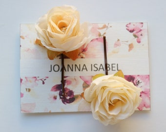Rose hair pin set of two