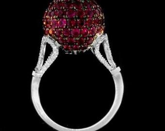 ring 14 k gold white diamonds 0.50 CT