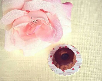 Chocolate cake in miniature-scale 1:12, doll house, fairy house, fairy garden, minicake