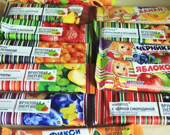 12 bars - Fruit Snacks Bars, dried fruits, eco, kids snack, car snack, healthy, vegan, natural sweets